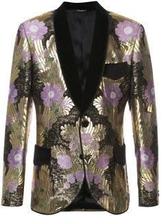 парчовый пиджак с цветочной вышивкой Dolce & Gabbana