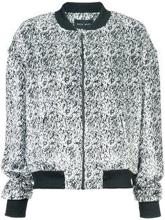 куртка-бомбер с абстрактным принтом Baja East