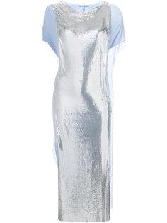 платье с сетчатой аппликацией Paco Rabanne