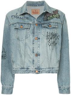 джинсовая куртка с принтом Hysteric Glamour