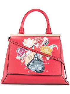 сумка-тоут с цветочным принтом Demanumea