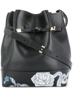 сумка на плечо с цветочным принтом Demanumea