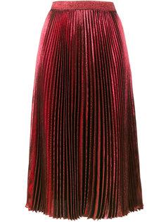 плиссированная юбка с завышенной талией с металлическим отблеском Christopher Kane