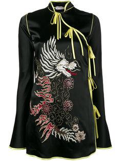 платье с запахом и отделкой Stella Attico