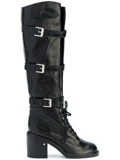 высокие ботинки в стиле милитари Laurence Dacade