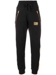 спортивные брюки с вышитым логотипом Baja East