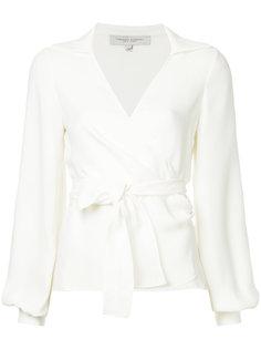 блузка с запахом и рукавам-колокол Carolina Herrera