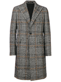 пальто с узором в ломаную клетку Tagliatore