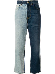 укороченные джинсы дизайна колор-блок Golden Goose Deluxe Brand