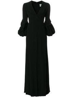 вечернее платье с глубоким V-образным вырезом Alexis