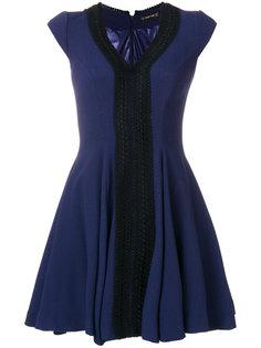 приталенное платье с V-образным вырезом  Plein Sud