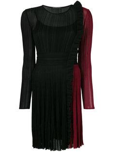 плиссированное платье с контрастной отделкой  Antonino Valenti