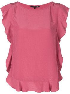 блузка с оборочной отделкой Luisa Cerano