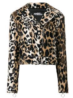 байкерская куртка с леопардовым узором Jeremy Scott
