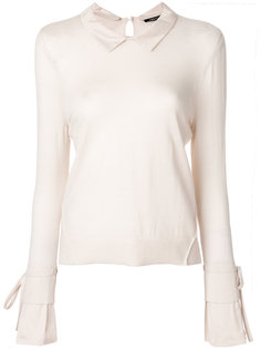 collar applique sweatshirt  Luisa Cerano