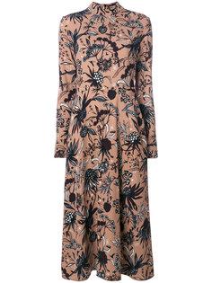 креповое платье Isa с цветочным принтом Markus Lupfer