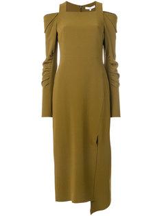 платье с прорезями на плечах Tibi