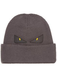 двухцветная шапка Fendi