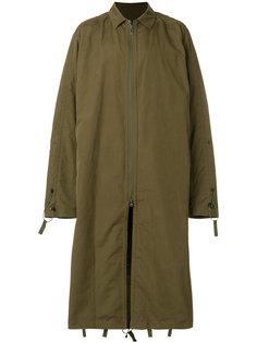 удлиненное пальто мешковатого кроя White Mountaineering