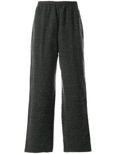 жаккардовые брюки с зигзагообразным узором White Mountaineering