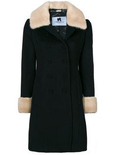 двубортное пальто Blumarine