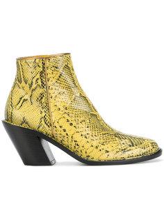 ботинки с принтом змеиной кожи A.F.Vandevorst