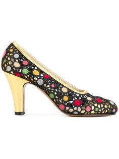 туфли с вышивкой Salvatore Ferragamo