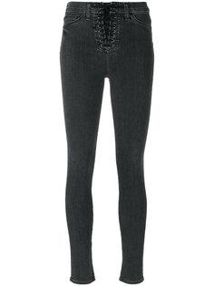 эластичные джинсы скинни со шнуровкой  Hudson