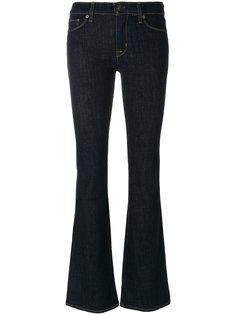 джинсы клеш с контрастной строчкой  Hudson