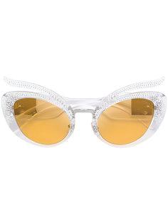 солнцезащитные очки с заклепками Miu Miu Eyewear