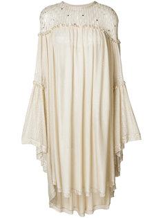 платье шифт с перфорацией Sonia Rykiel