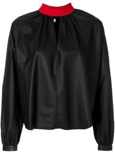 блузка с высокой горловиной Fausto Puglisi