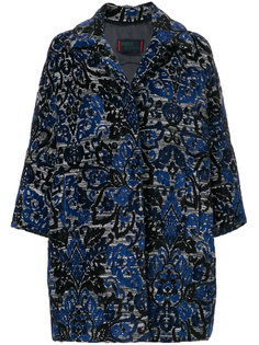 жаккардовое пальто с узором арабеска Femme By Michele Rossi
