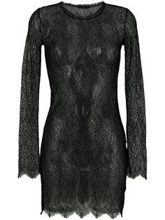 прозрачное кружевное платье Adelbel