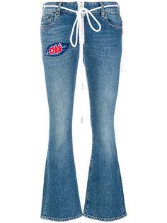 укороченные расклешенные джинсы Off-White