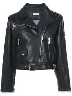 байкерская куртка с меховыми манжетами Natasha Zinko