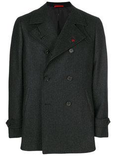 двубортное пальто Isaia