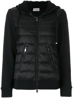 куртка-пуховик с рукавами из джерси Moncler