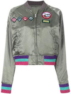 куртка-бомбер с заплатками  Diesel