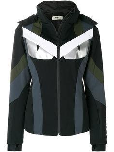 приталенная куртка колор блок  Fendi