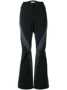 брюки клеш в стиле колор блок  Fendi