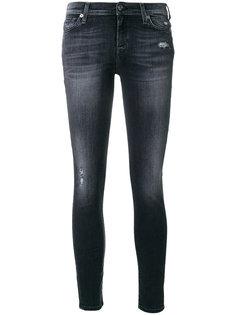 джинсы скинни с потертостями 7 For All Mankind