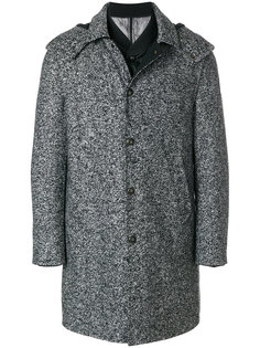 пальто-пуховик на пуговицах Moncler Gamme Bleu