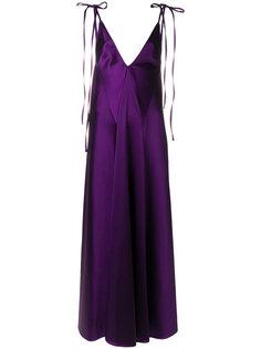 платье макси с V-образным вырезом  Attico