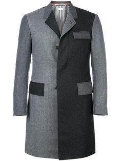 двухцветное пальто Chesterfield  Thom Browne