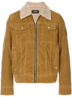 куртка с воротником из овчины на молнии  Diesel