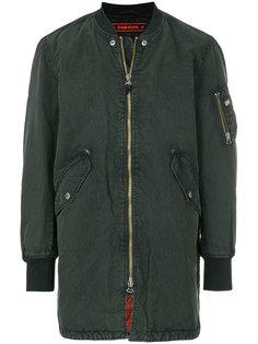 удлиненная куртка-бомбер   Diesel