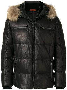 стеганое пальто с капюшоном Baldinini