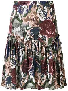 юбка А-образного силуэта с цветочным узором Paul & Joe