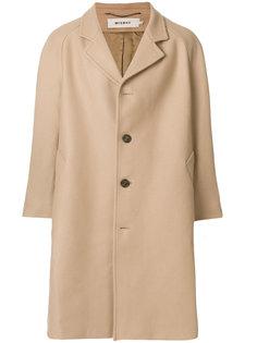 классическое однобортное пальто Misbhv